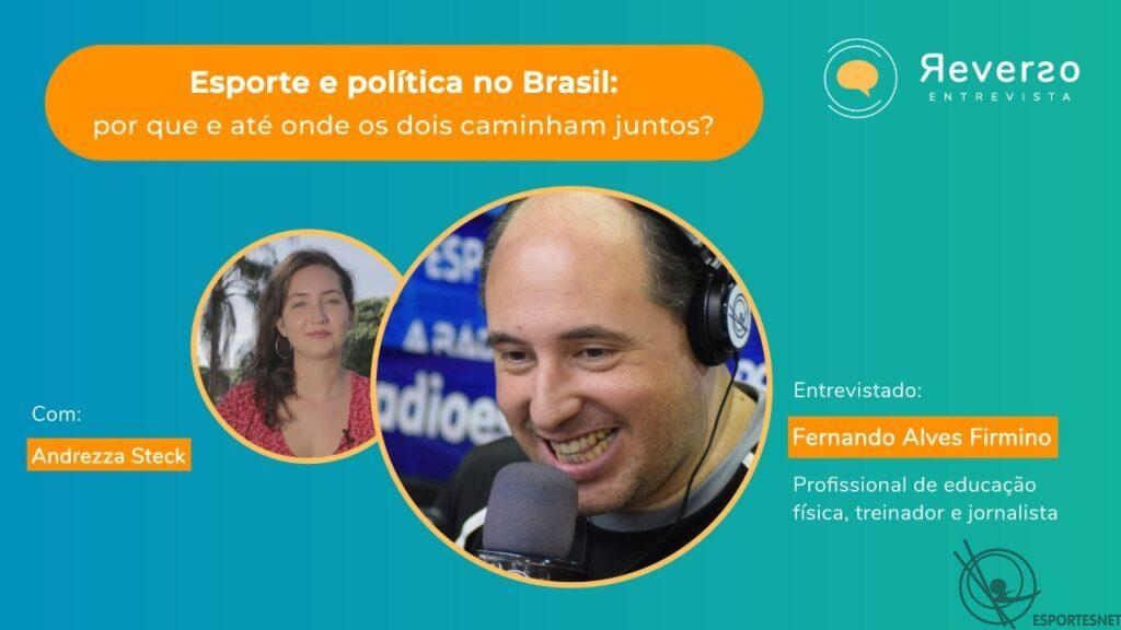 Fernando Alves Firmino em entrevista ao programa Reverso UFES falando de política e esporte