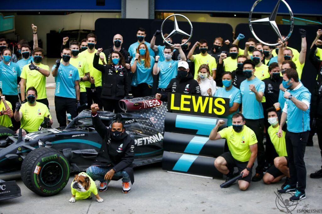 Mercedes campeã do mundo em 2020 da Fórmula-1