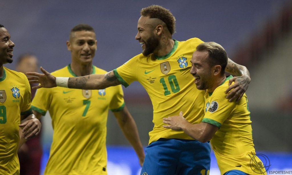 Brasil vence Venezuela pela Copa América