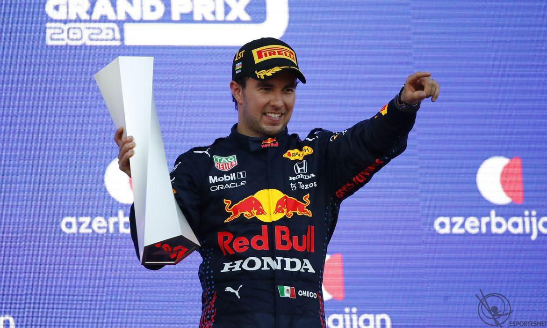 Checo Perez vence no Azerbaijão na Fórmula 1